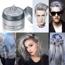 box hair color hair still gray silver cream wax mud dye temporary modeling unisex ash grey diy