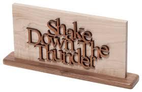 Notre Dame Desk Accessories South Bend Woodworks Notre Dame Shake The Thunder Desktop
