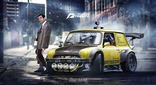 readers rides archives speedhunters mr bean mini race car nfs theme has huge spoiler autoevolution