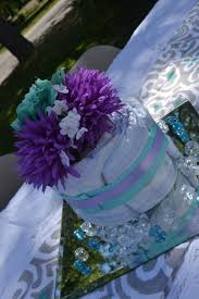 purple u0026 teal baby shower centerpiece baby shower pinterest