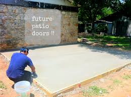 concrete backyard diy home outdoor decoration