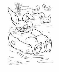 easter bunny ducks coloring
