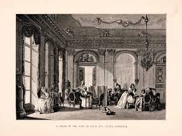 1876 wood engraving salon louis xvi neoclassical furniture