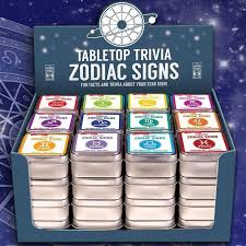 zodiac cards tabletop zodiac signs trivia cards yellow octopus