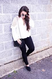 White Blouse With Black Bow Romantic White Blouse Black Bow Mules Lauren Em