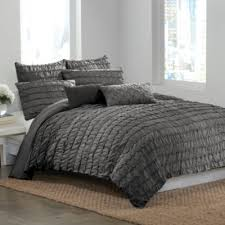 Dkny Duvet Cover White Dkny Ruffle Wave Charcoal Duvet Cover Bedbathandbeyond Com