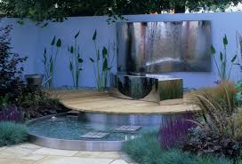 Water Feature Ideas For Small Backyards by Modern Small Garden With Stylish Water Features Smallgarden