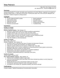 traditional resume template resume templates dish networkaller exles fair cable for your hvac