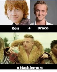 Macklemore Meme - draco ron macklemore meme on me me