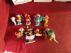 sesame muppet ornaments lot of 5 grover ernie zoe