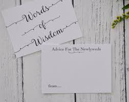 words of wisdom for and groom cards wedding advice cards etsy