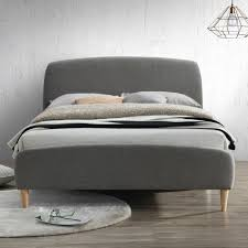 Grey Bed Frame Birlea Upholstered Grey Kingsize Bed Furniture123