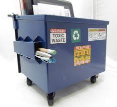 dumpsty mini dumpster desk accessory officesupplygeek