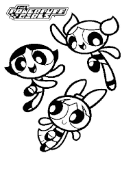 Powerpuff Buttercup Coloring Pages Free Printable Powerpuff Power Puff Coloring Page