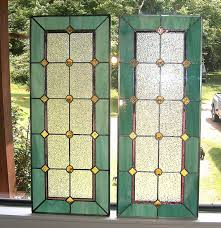 victorian glass door panels etsy stained glass artist these cost 175 per this would look
