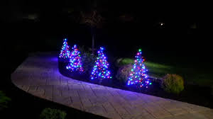 s 2 pre lit led 3 fold flat outdoor trees by lori