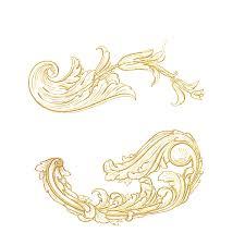 free illustration ornament floral gold free image