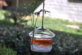 Goldfish Bowl Vase 8 5 12cm Mushroom Shape Transparent Glass Hanging Vase Glass