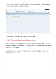 Sap Material Master Tables by Sap Mm Essential Master Data