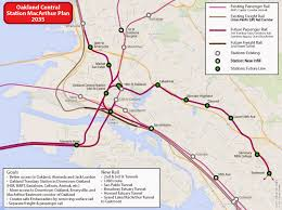 Oakland Map A 2035 Rail Plan For Oakland
