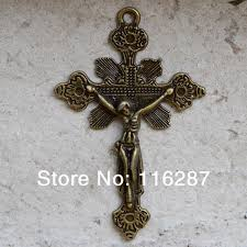 rosary parts catholic religious gifts antique bronze plated crucifix prayer