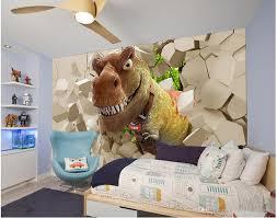 dinosaur broken wall three dimensional eye 3d tv wall