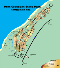 State Parks Usa Map by Port Crescent State Park Michigan Usa Camp In Style