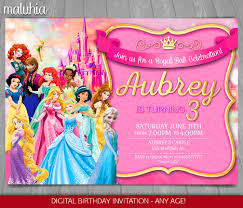 disney princess invitation disney princesses invite