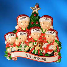 family christmas ornaments free personalization