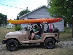jeep comanche roof basket your wrangler with kayak s roof rack jeepforum com