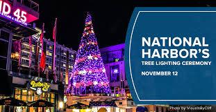 don t miss national harbor s annual tree lighting ceremony on nov