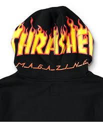 vans x thrasher boys black hoodie zumiez