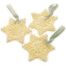 snowflake ornaments perler
