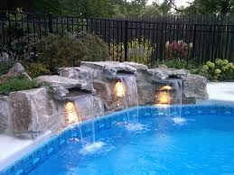 pools with waterfalls inground pool waterfalls ls gallery including pictures pinkax com