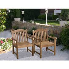 Wholesale Armchairs Amazonia Madison Teak Armchairs Set Of 2 Bj U0027s Wholesale Club