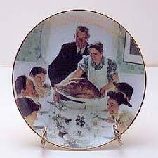 thanksgiving collector plate by norman rockwell
