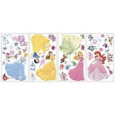 disney princess gems peel and stick wall decals toys