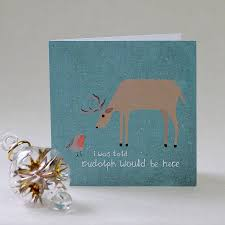 reindeer and robin festive christmas cards by lil3birdy