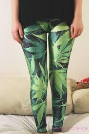 Jamaican Flag Leggings New Rasta Leggings Cannabis Marijuana Green Leggings Hippie Yoga