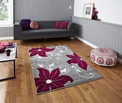Purple Flower Rug Rugs In Goole By Price Furnishing Goole Selby Leeds Doncaster Hull