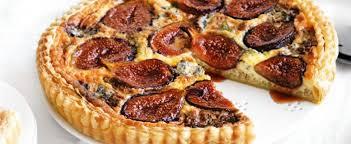 caramelised fig u0026 blue cheese tart mindfood