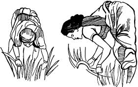 two women cutting grass coloring pages color luna