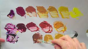 What Colors Make Yellow Complementary Colours Yellow And Purple Acrylic Paint Youtube