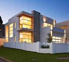 white modern concrete home with swiming pool nytexas