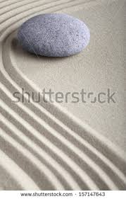 relaxation japanese zen garden round rock stock photo 100096055