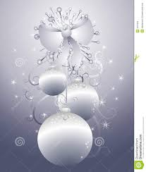 hanging silver ornaments 2 stock images image 3751934