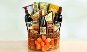 gourmet food gift baskets wine gourmet food gift basket groupon goods