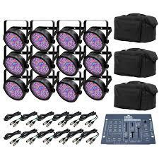 chauvet slimpar 56 led light chauvet slimpar 56 led par can lights 12 obey 3 dmx controller