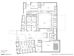 Building Plans Images Reed College Performing Arts Building