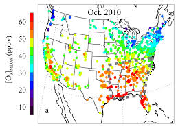 Map Of The Southeastern United States by Climate Change May Extend Ozone Season In The Southeastern U S